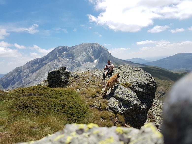 Última de las cumbres del cordal. Ruta de montaña